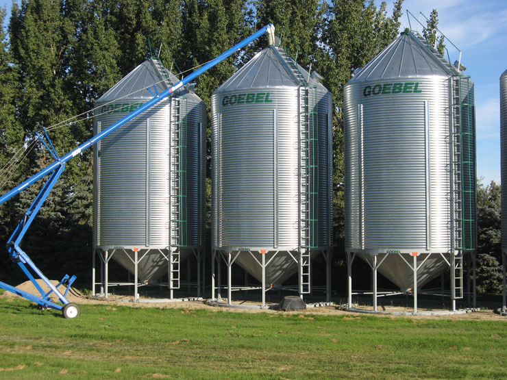 Nordin hopper bottom bins